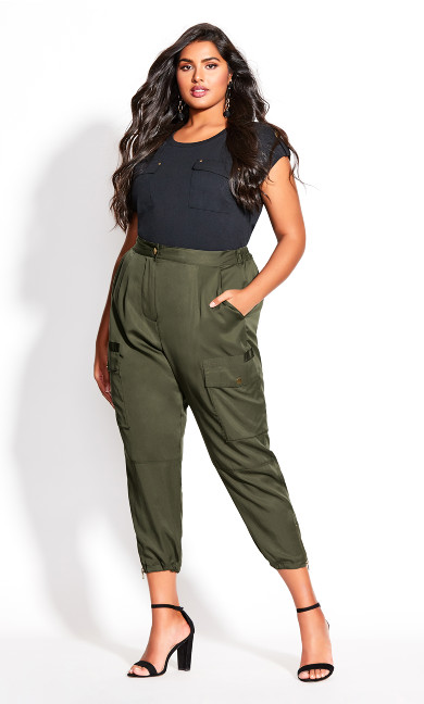 Plus Size Utility Bliss Pant - fern