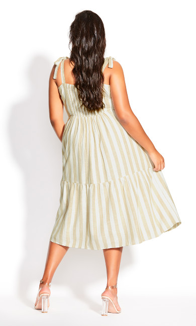 Stripe Stroll Dress - ivory