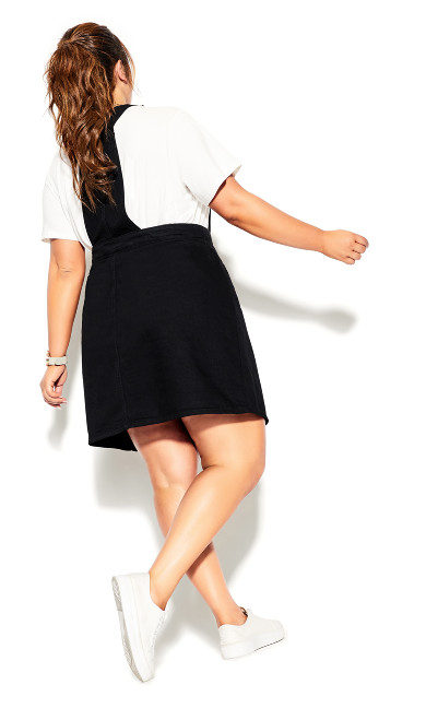 Charm Pinafore Dress - black