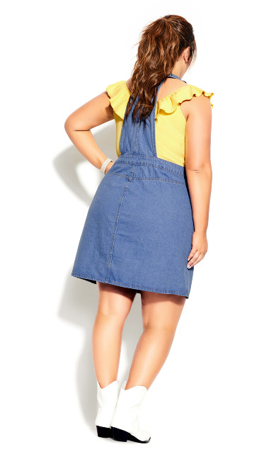 Charm Pinafore Dress - denim