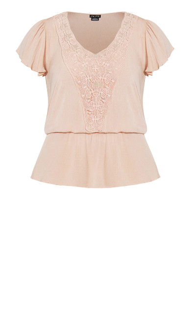 Fiesta Fun Top - peach