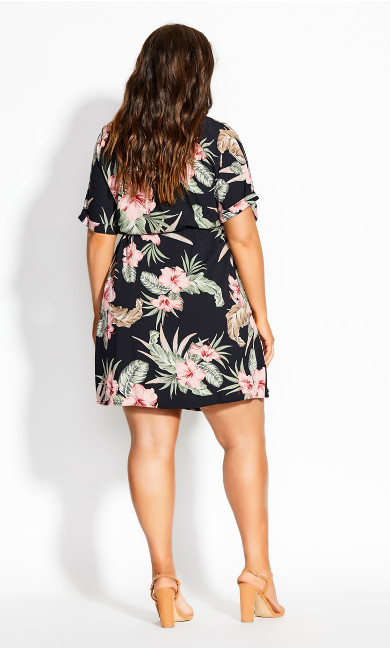 Molokini Shirt Dress - black