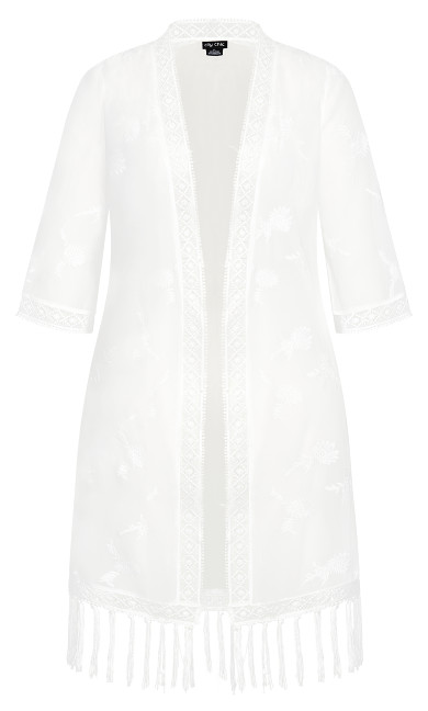 Embroidered Charm Jacket - ivory