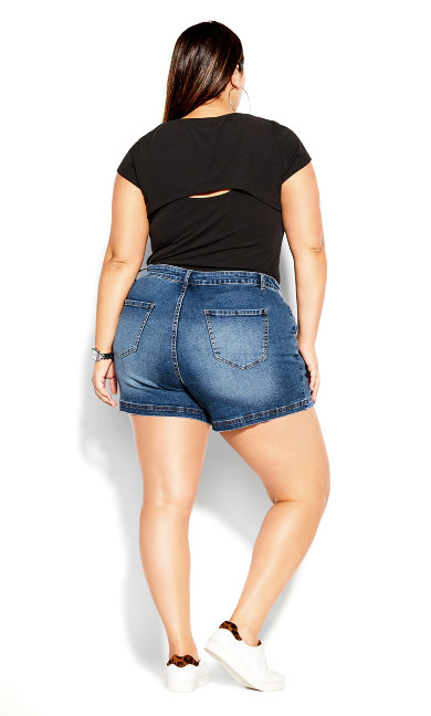 Denim Breeze Short - mid denim