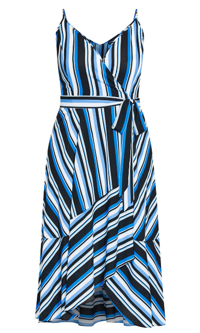Moody Stripe Dress - azure