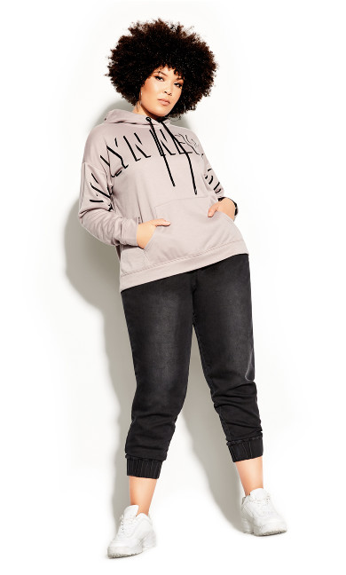 Plus Size Effortless Hoodie - dusty rose