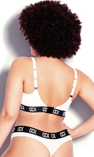 CCX Logo Cotton Thong - white
