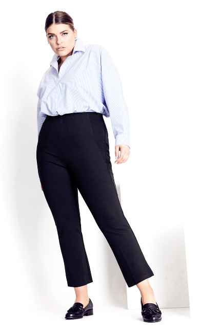 Plus Size Donna Flare Pant - navy