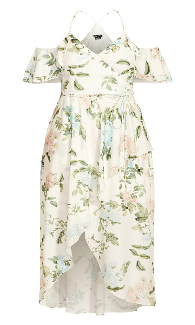Tender Floral Maxi Dress - ivory