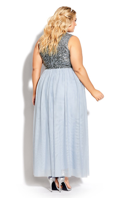 Shine Bright Maxi Dress - aquamarine