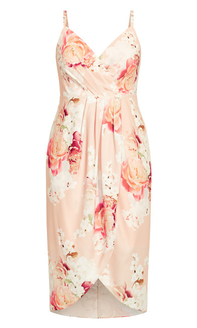 Powder Floral Dress - pink
