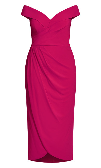 Rippled Love Dress - magenta