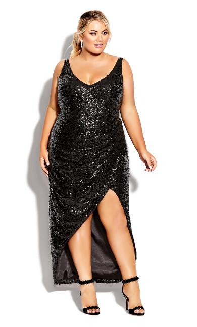 Plus Size Star Desire Maxi Dress - onyx