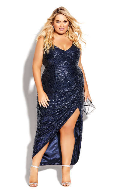 Plus Size Star Desire Maxi Dress - sapphine