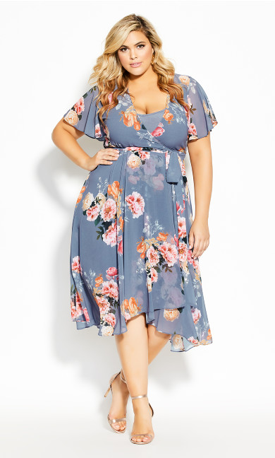 Plus Size Florence Frill Dress - mauve