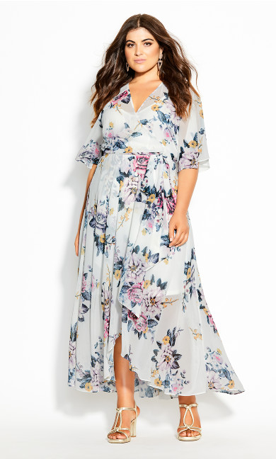 Plus Size Summer Love Maxi Dress - ivory