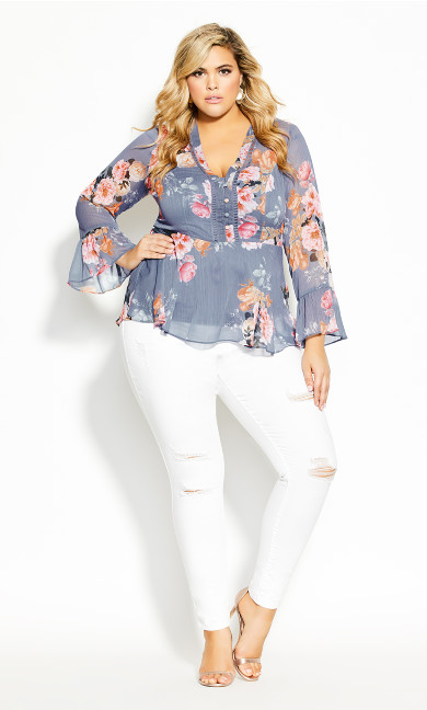 Plus Size Florence Top - mauve