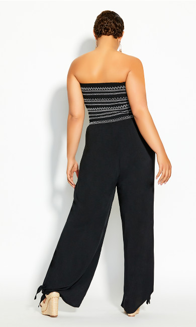 Stitched Jumpsuit - black