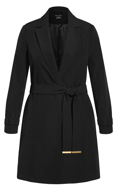 Miss Sleek Trench - black