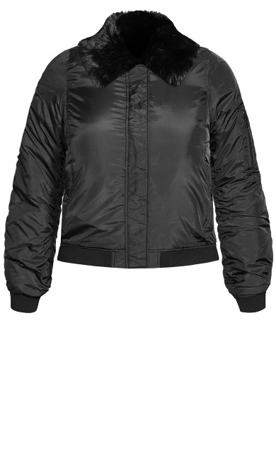 Fly High Bomber Jacket - black
