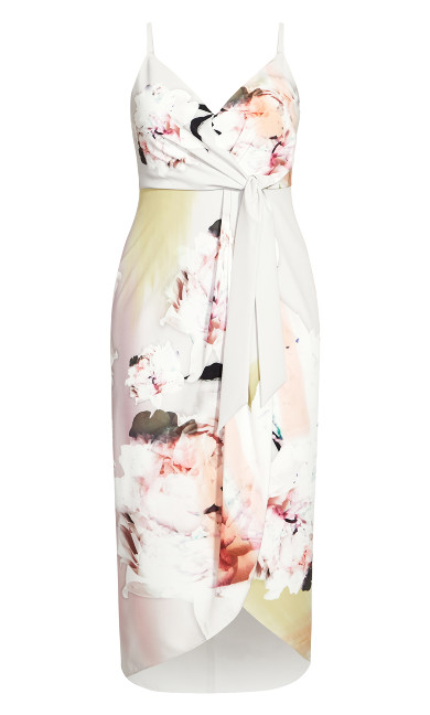 Glistening Floral Dress - ivory