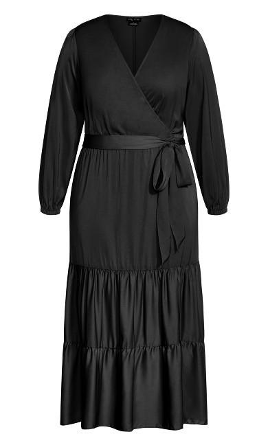 Plus Size Pretty Tier Maxi Dress - black