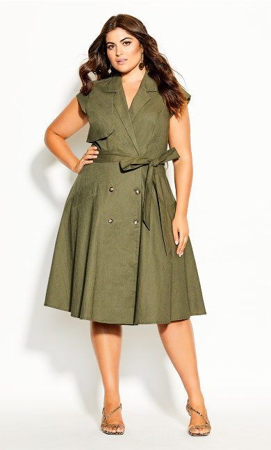 Plus Size Essential Dress - thyme