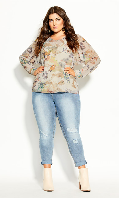 Plus Size Woodlands Shirt - buff