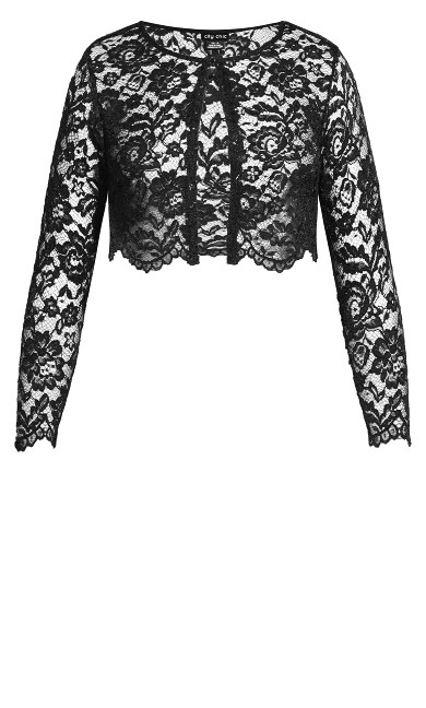 Scallop Lace Jacket - black