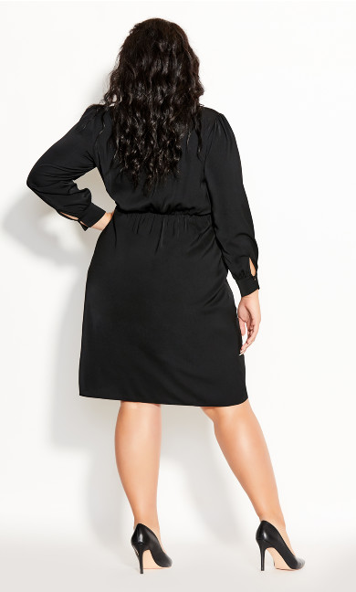Collared Love Dress - black