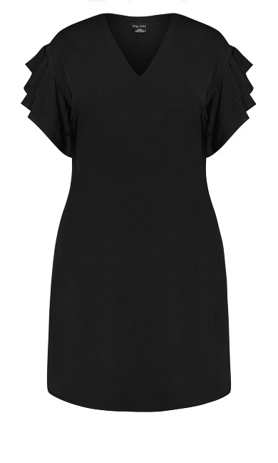 Double Frill Dress - black