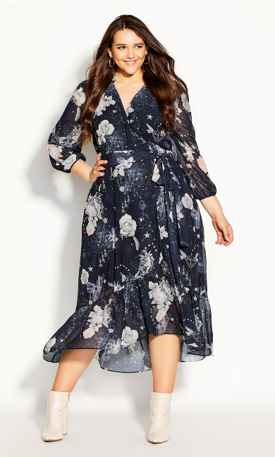 Plus Size Divinity Maxi Dress - navy