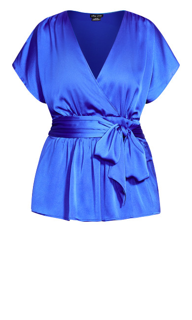 Tangled Top - electric blue