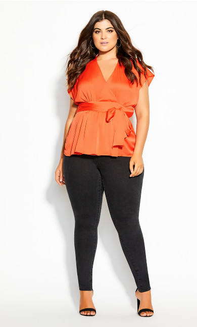 Plus Size Tangled Top - melon