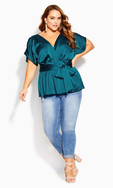 Tangled Top - teal