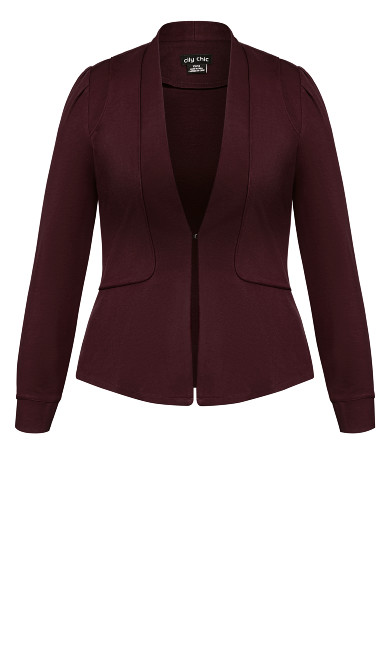 Piping Praise Jacket - oxblood