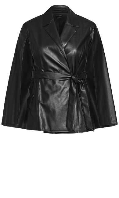 Luxe Cape Jacket - black
