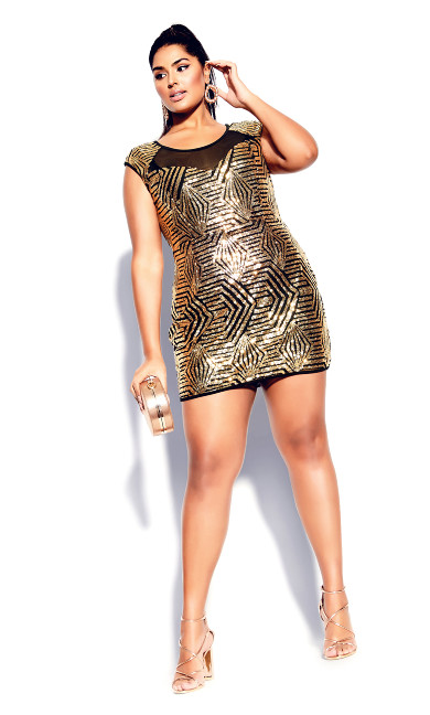 Plus Size After Glow Dress - gold