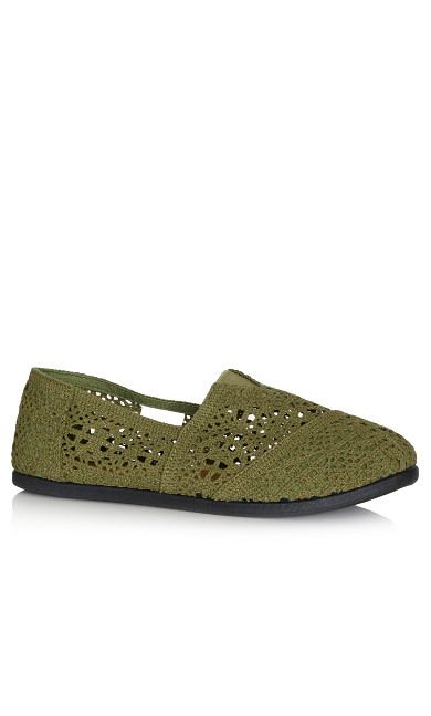 Plus Size Halley Espadrille - olive