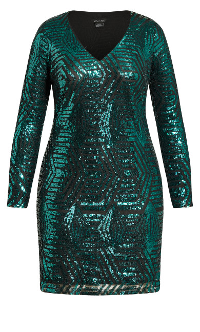 Bright Lights Dress - emerald