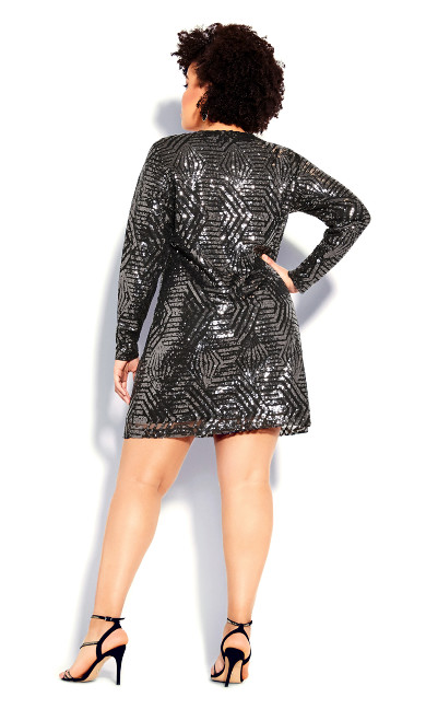 Bright Lights Dress - gunmetal
