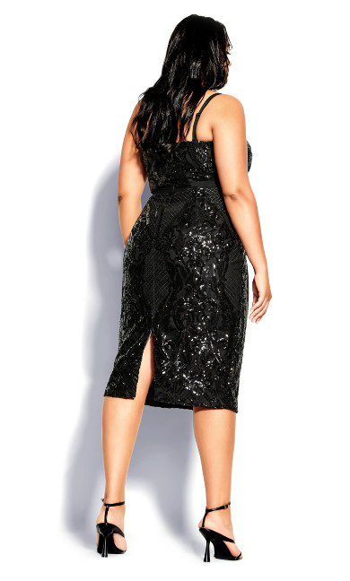 Sequin Sofia Dress - black