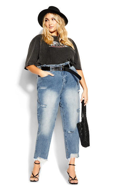 Belted Skinny Jean - light denim