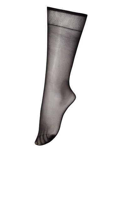 Knee High Socks - off black