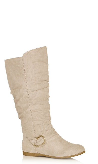 Plus Size Sasha Tall Boot - beige