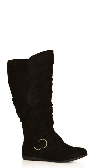 Plus Size Sasha Tall Boot - black