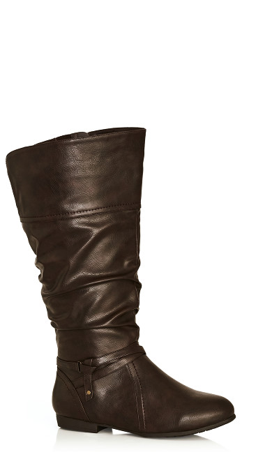 Plus Size Chelsea Tall Boot - brown