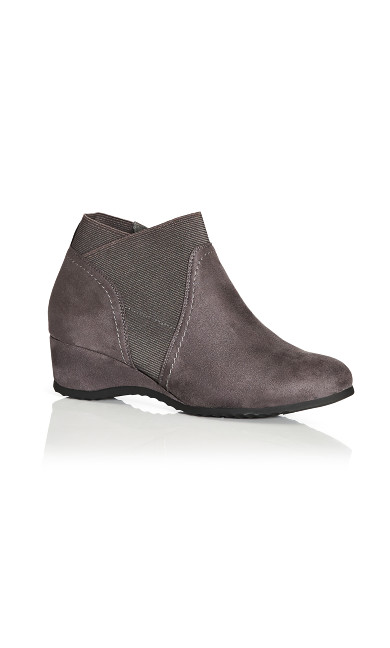 Plus Size Keira Ankle Boot - grey