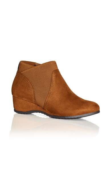 Plus Size Keira Ankle Boot - tan