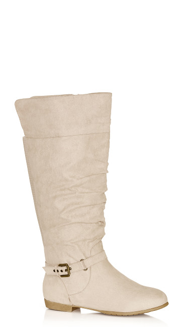 Plus Size Beacon Tall Boot - beige